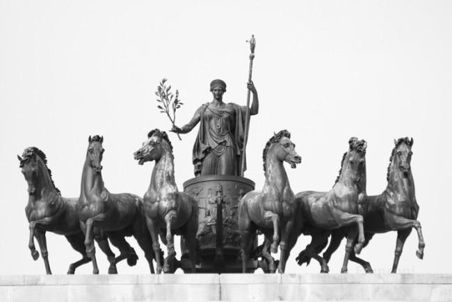 I cavalli dell'Arco della Pace.