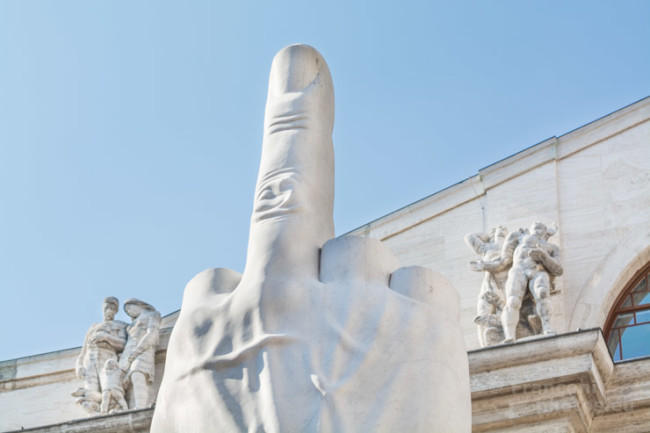 LOVE, the milanese middle finger.