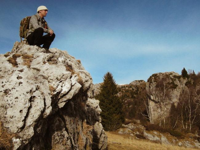 Nella natura, tra il silenzio della montagna.