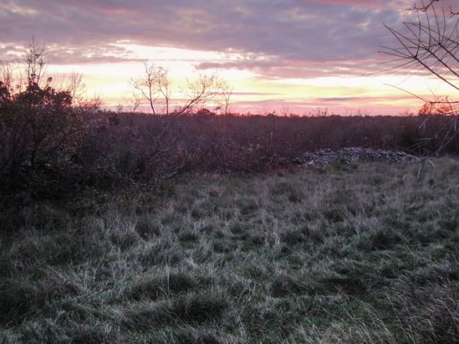Un tramonto diverso dagli altri a Nova Vas